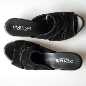 Cordani Dayton Suede Wedge Sandals Shoes